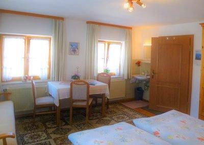 Unser Murmelzimmer bietet Platz für 3 Personen